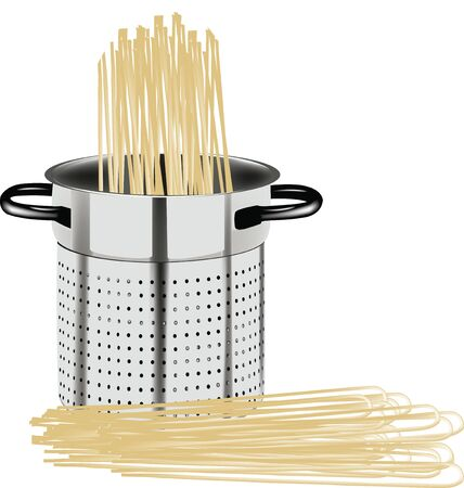 carbohydrate: pot with spaghetti for feeding