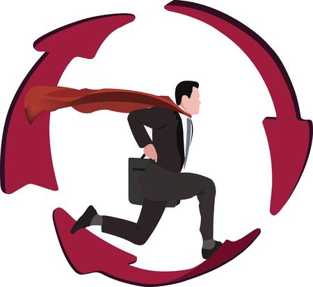 delay: person running