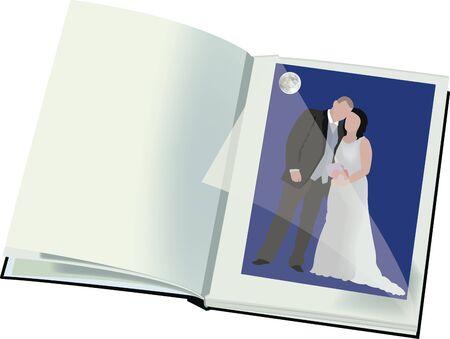 spouses: Photo album Illustration