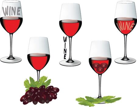 winetasting: crystal glass with wine