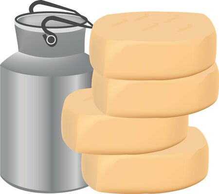 chunk: production dairy cheese Illustration