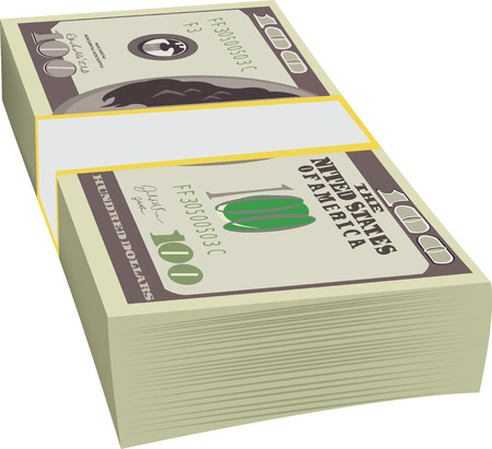 greenbacks: bribes hundred dollars green money Illustration