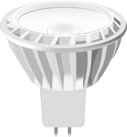 led light: LED light bulb isolated