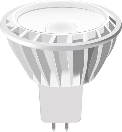 led light bulb: LED light bulb isolated