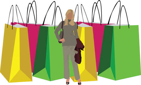 retailers: FIG front of colored bags for the purchase