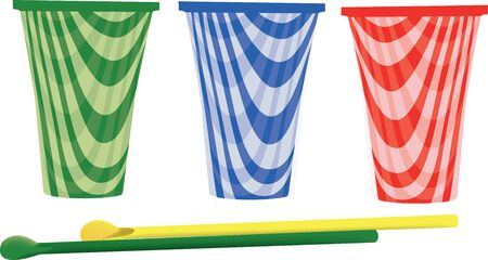 slush: colored plastic glasses to hold slush drinks