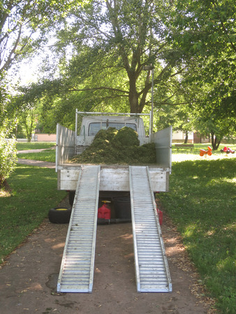 maintaining: Maintaining public garden Stock Photo