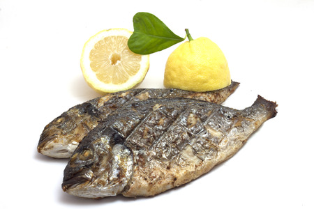 bream: grilled sea bream with lemon heart