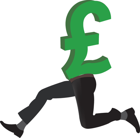 british pound: British pound currency symbol with legs
