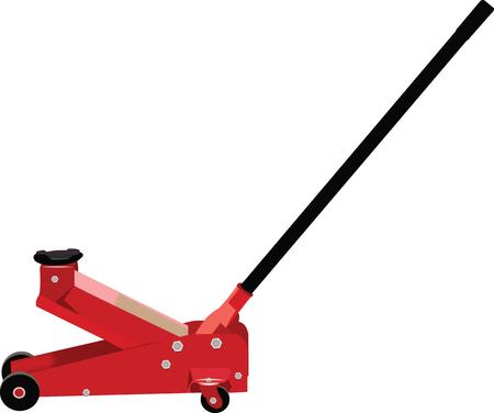 hydraulic: hydraulic jack, mechanical and bodywork Illustration
