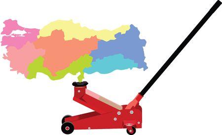 hydraulic jack lifts Turkey Ilustração