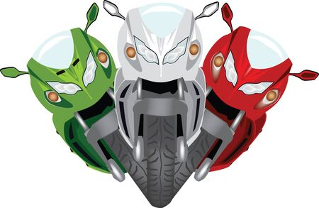 tricolore racing motorcycle Illustration