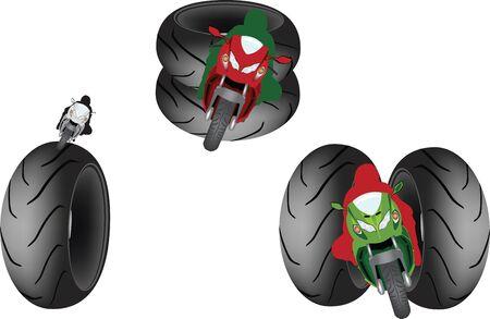 biker symbol with tires