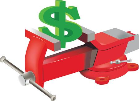 dollar symbol in the grip
