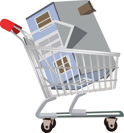 transportation and home purchases Illustration