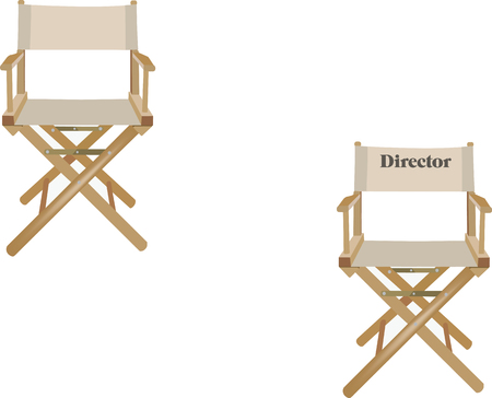 articles of furniture: chairs with writing director Illustration