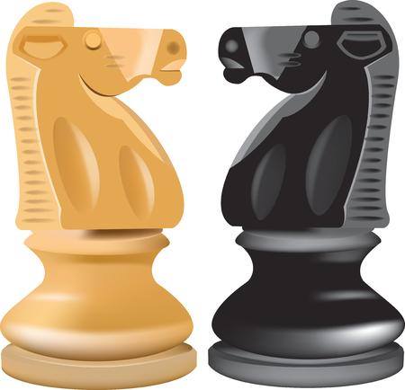 pedestrians: checkmate horse on blacks pedestrians