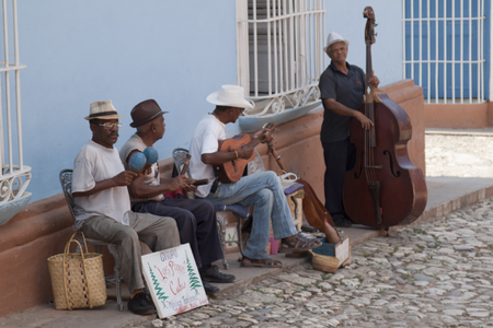 Cuban musicians in the square