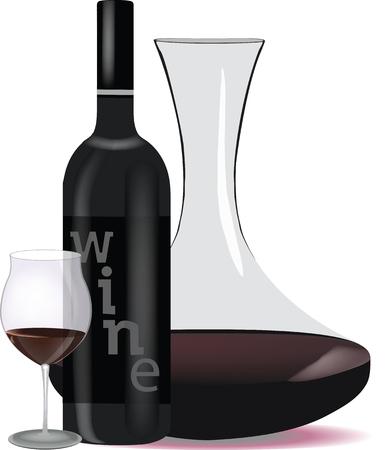 Service d'une dégustation de vin.