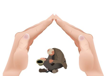 beggary: Beggar support poverty assistance