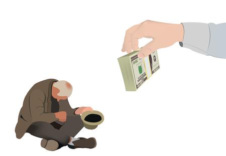 Beggar Unterstützung Armut Unterstützung