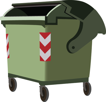 dumpster urban waste for recycling Illustration