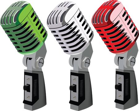 subversive: Italian tricolor Italian radio microphones