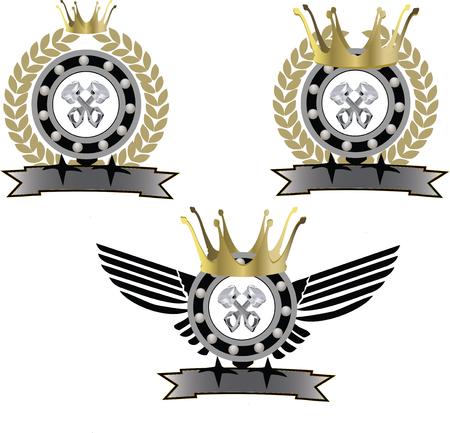 Sticker symbol sport motorcycle
