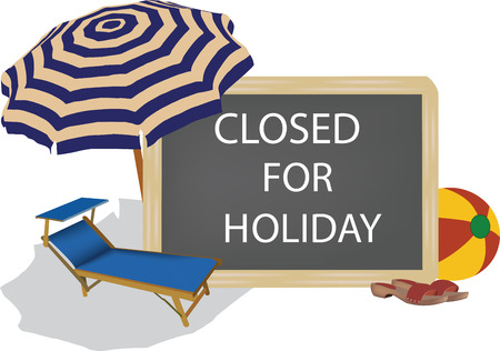 Chalkboard with closed writing for holidays