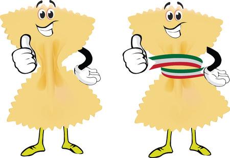 Italian pasta type butterfly