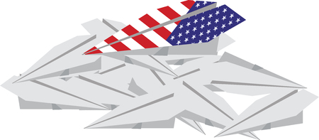 American paper plane over others