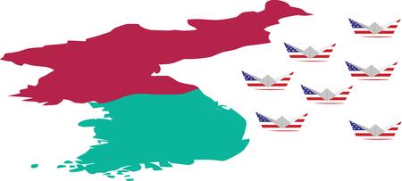 American siege to North Korea