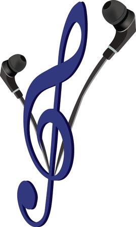 Mobile phone earphones for listening to music