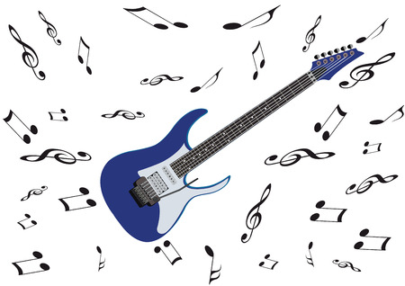 Electric guitar musical instrument 向量圖像