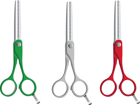 scissors for barbershop tricolor Çizim