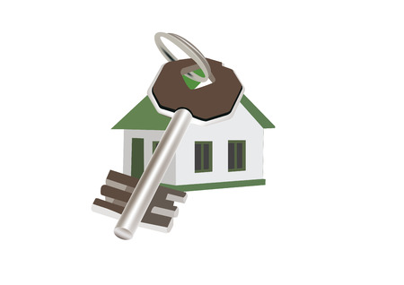 Single House with Armored Door Key