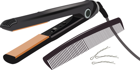 electric hair plate to straighten them