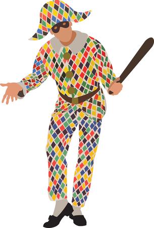 harlequin mannequin kleding Stock Illustratie