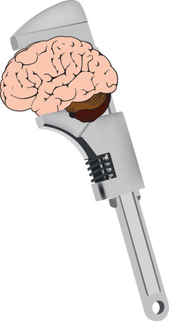 Cogwheel key tightens human brain.