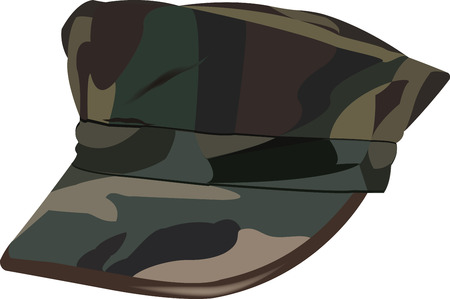 American military camouflage hat
