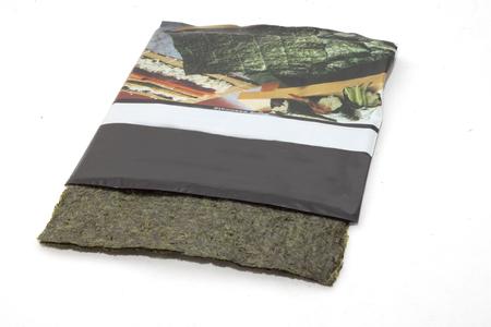 dried seaweed retangular cutout with packaging Imagens