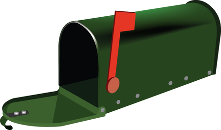 mailbox type green e-mail Vector illustration. Vettoriali
