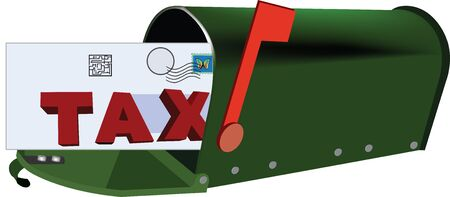 Shipping fees by mail Illustration