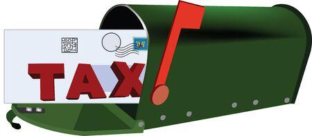 Verzendkosten per mail Stock Illustratie