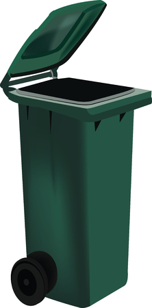 collector with green lid for differentiated collection Illustration