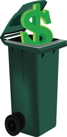 binder with green lid for recycling Illustration