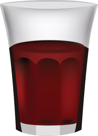 classic glass of glass containing still red wine