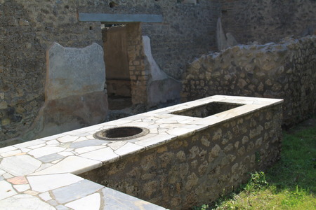 Pompeii Naples archaeological area afreschi and paintings Imagens