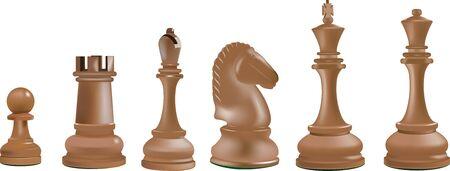 Schachspiel König Königin Bischof Turmpferd und Bauer
