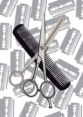 barber accessories use for hair cutting